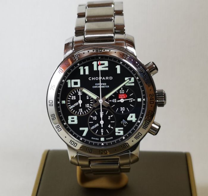 "Chopard - Mille Miglia Chronograph Certified Chronometer Automatic Black Dial With Box ""NO RESERVE"" - REF 8920 - Heren - 2000-2010"