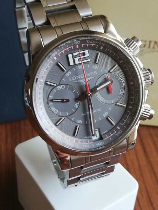 Longines - Admiral Automatic Chronograph Grey - L3.666.4 - Homme - 2000-2010