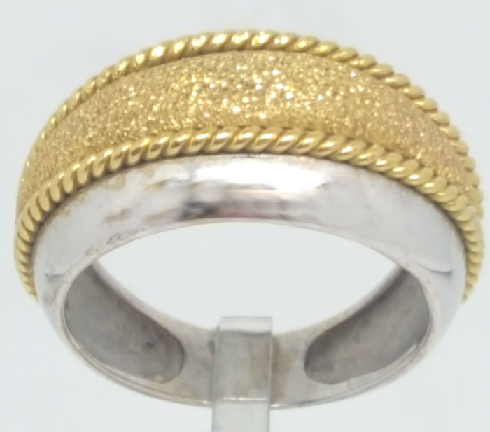 18 kt. White gold, Yellow gold - Ring