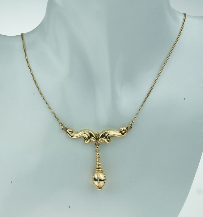 Victoriaanse pampel - 14 kt. Gold - Necklace