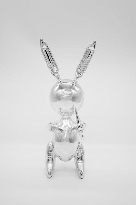 Jeff Koons (after) - Silver Balloon Rabbit (multiple)