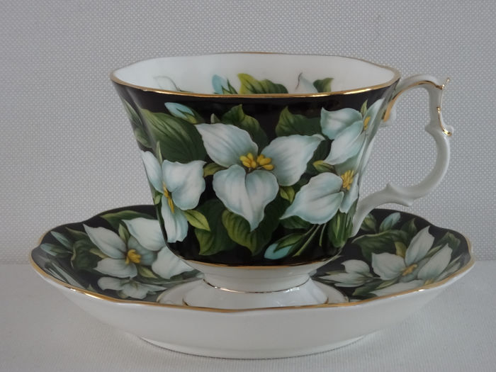 Royal Albert Provincial Flowers Trillium Big Tea Cup and Saucer - Set - Porselein