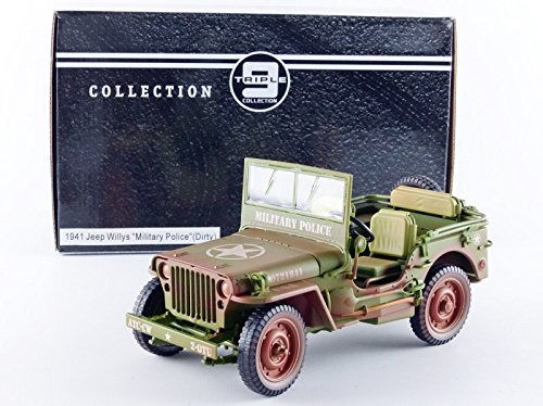 Triple 9 - 1:18 - Jeep Willys 1944 US Military Police  - Groen (SPORCA)