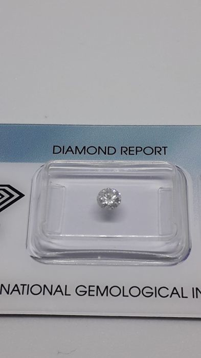 1 pcs Diamante - 0.33 ct - Brillante - G - I2