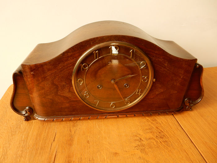 JUNG HANS WESTMINSTER Mantel clock/Schoorsteenklok - Art Deco - Wood