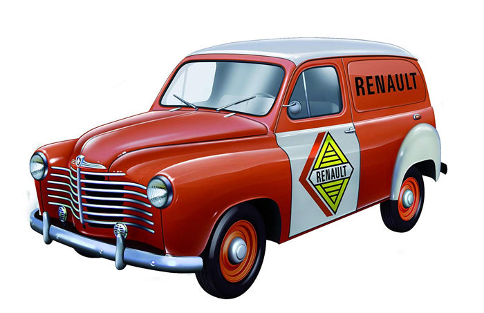 Solido - 1:18 - Renault Colorale Fourgon  - Dienst Renault 1953