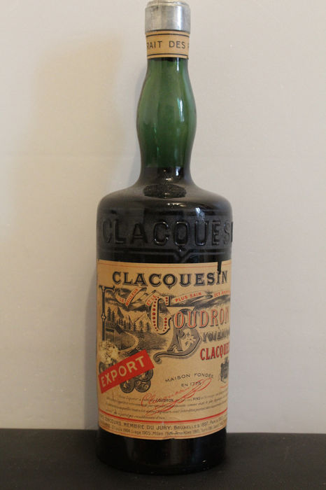 """Clacquesin - French """"hygiénique"""" liquor - b. 1940s, 1950s - volume not stated, but around 1 litre"""