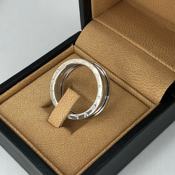 Bvlgari B. Zero 1 Collection - 3 Band, Big Size 64 (EU) - 18 karaat Witgoud - Ring