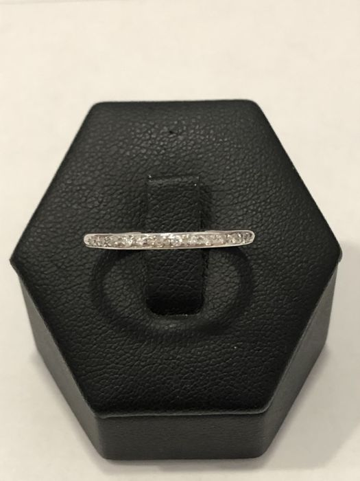 18 quilates Oro blanco - Anillo, Riviera - 0.12 ct Diamante