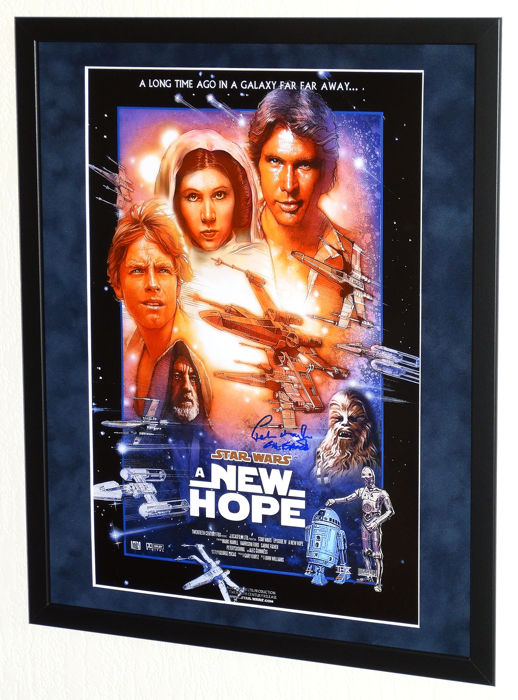 Star Wars - Peter Mayhew (RIP) - Hand signed (mini) movie poster + COA and Video Proof