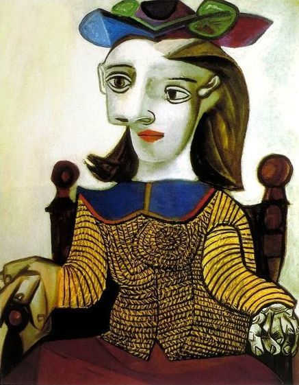 Pablo Picasso ( after ) - Seated Lady in Brown (Le chandail jaune (Dora)