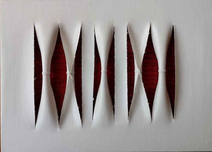 Calogero SALEMI - Squarci di rosso - Gashes of red