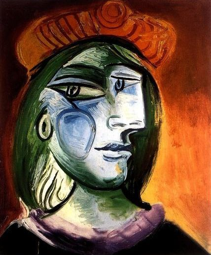 Pablo Picasso ( after ) - Lady with Green Hair and Brown Hat