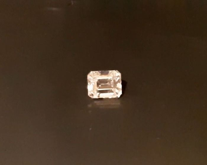 1 pcs Diamantes - 0.26 ct - Esmeralda - SI2