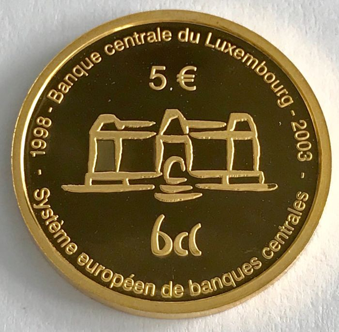 Luxembourg - 20 Francs 1989 - 150th Anniversary of the Grand Duchy - gold