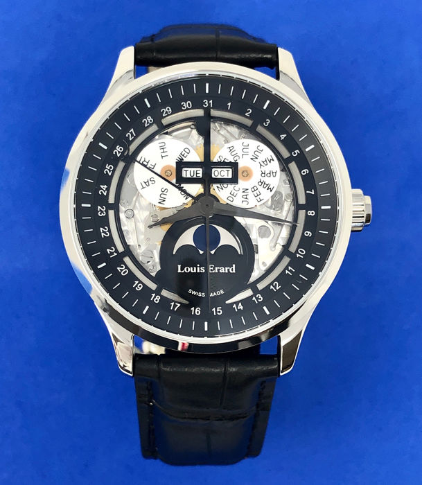 "Louis Erard - 1931 Automatic Moon Phase Skeleton Watch ""NO RESERVE PRICE"" - 31218AA42.BDC02 - Men - BRAND NEW"