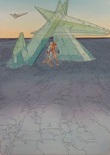 Moebius - Sérigraphie Pochoir n° & S - The Crystal Gate - Aedena (1995)