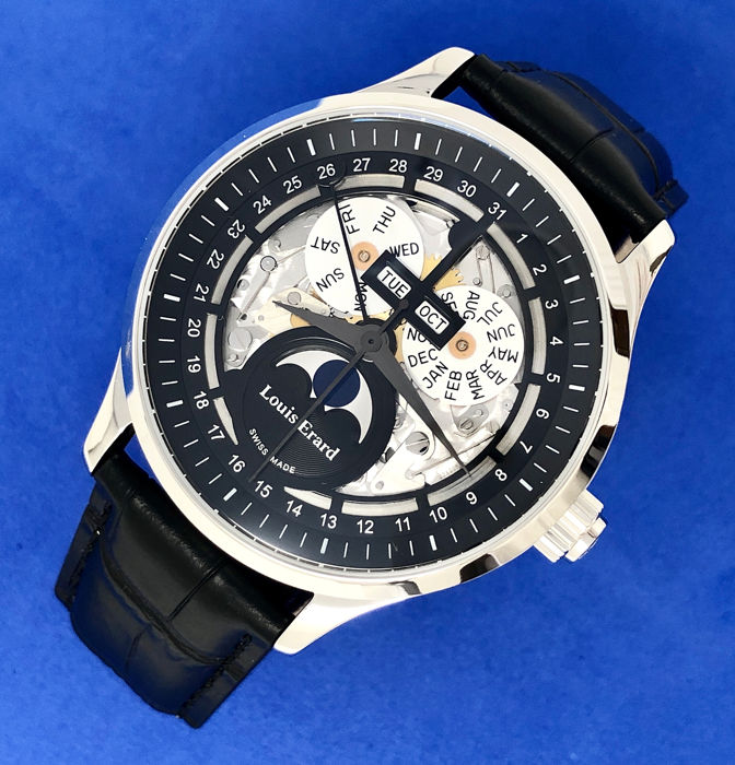 Louis Erard - 1931 Automatic Moon Phase Skeleton Watch  - 31218AA42.BDC02 - Hombre - BRAND NEW