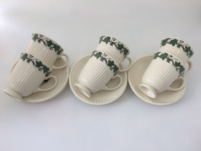 Wedgwood - Coffee cup with saucer (6) - Neoclassical - Ceramic
