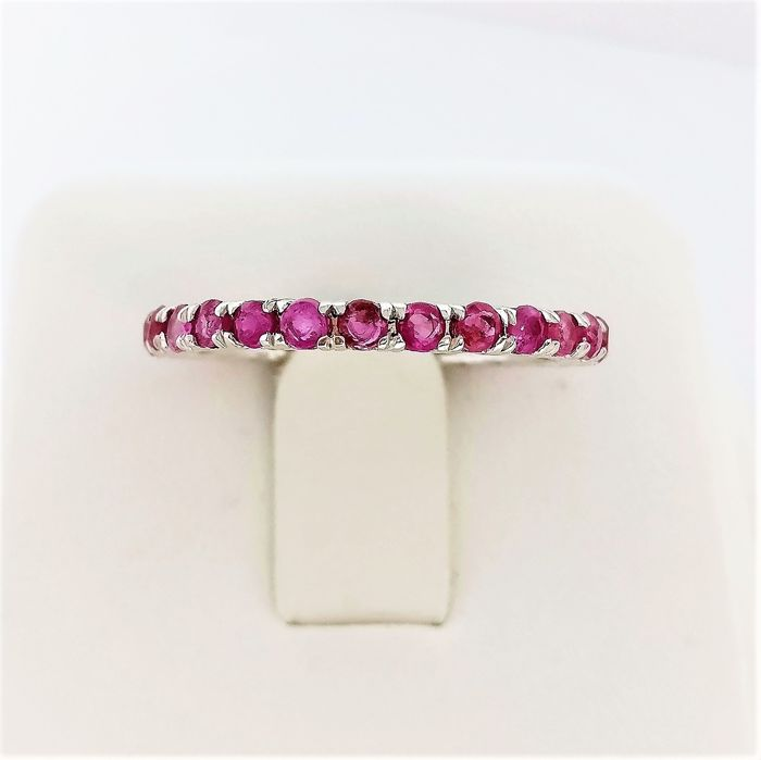 14 kt. White gold - Ring - 1.51 ct Ruby