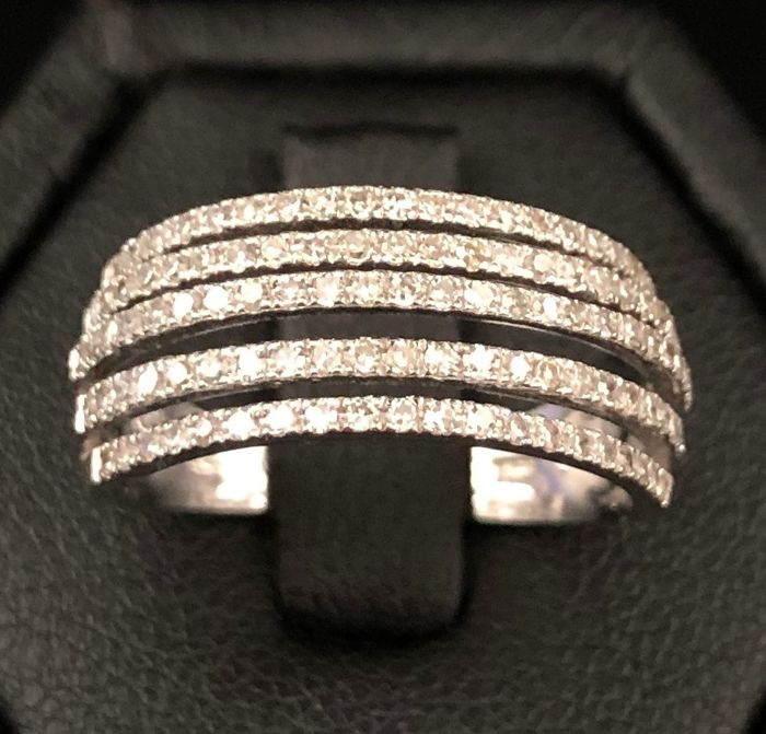 18 kraat Hvidguld - Ring - 1.00 ct Diamant