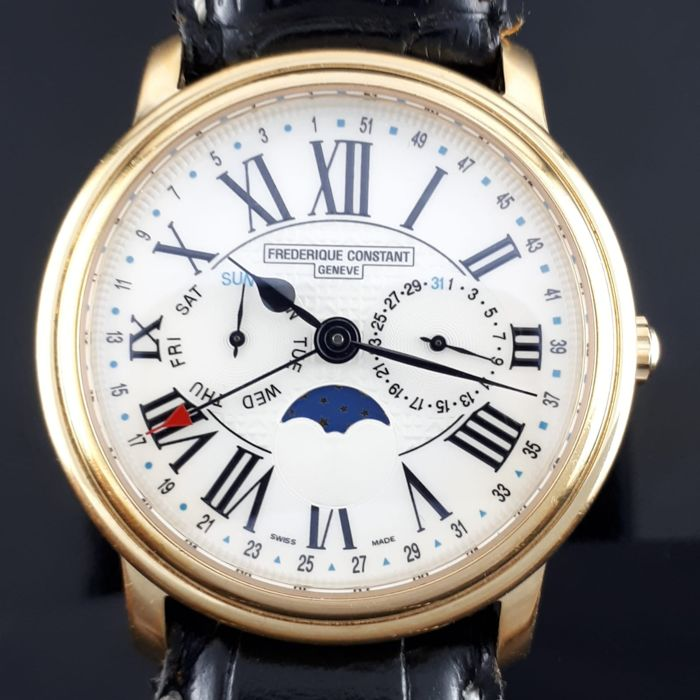 Frédérique Constant - Classical Chronographe moonphase - GMT40 S - Heren - 2011-heden