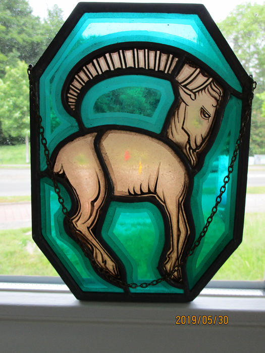 Art Deco glas-in-lood raam - Aries