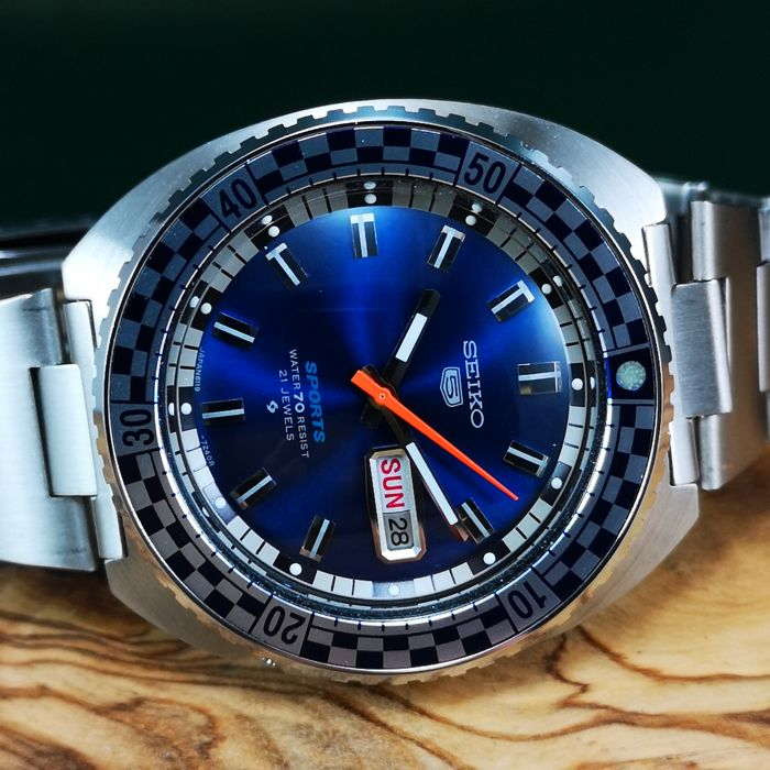 """Seiko - """"NO RESERVE PRICE"""" Sports Speed Racing *Rally Diver* - Automatic  - 6119-7173 - Heren - 1970-1979"""