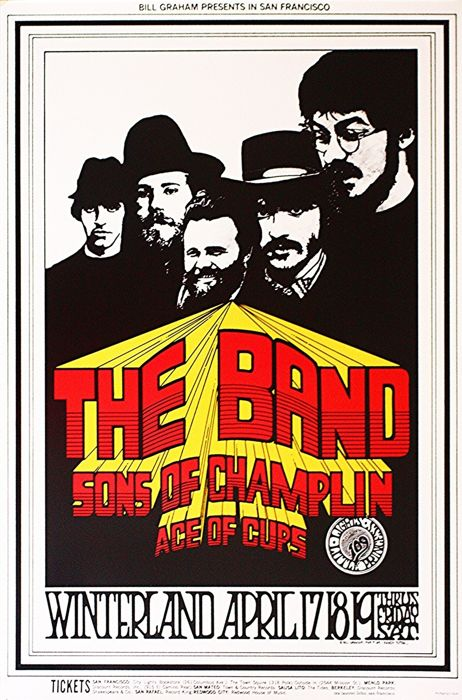 The Band - Winterland 1969 - Affiche en édition limitée de Randy Tuten - 1969/2006
