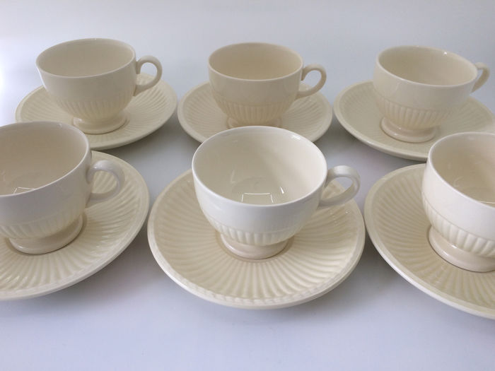 Wedgwood - Tea cup with saucer (6) - Neoclassical - Ceramic