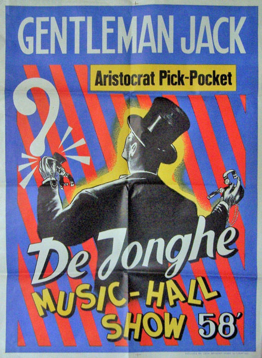 Anonymous -  Gentleman Jack Aristocrat Pick - Pocket. Music Hall De Jonghe - 1958