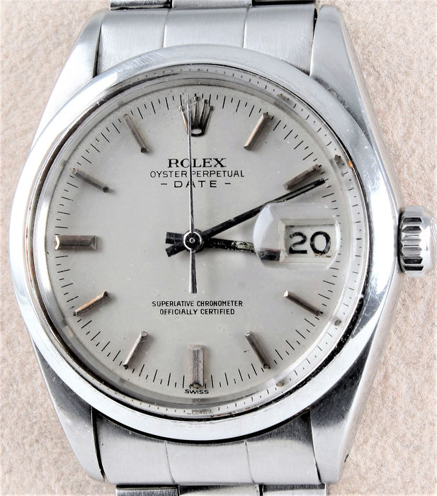 Rolex , Vintage , Oyster Perpetual Date , Superlative Chronometer ,  Officially Certified , Perfect Condition for its Age , Unisex , 1960,1969 ,