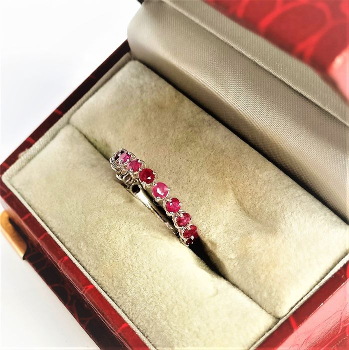 18 kt. White gold - Ring - 1.76 ct Ruby