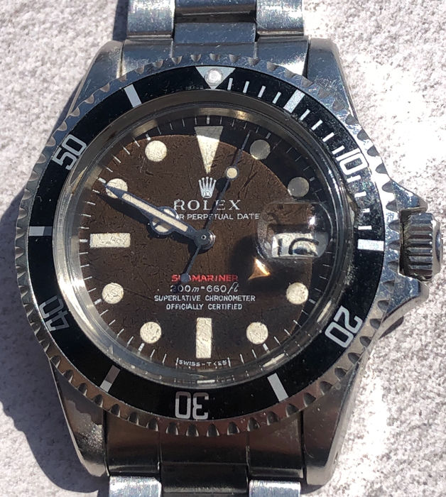 Rolex - Submariner Date, Tropical Dial, Meters First, Never Polished  - Ref. 1680 - Unisex - 1969