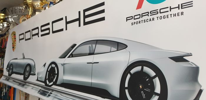 Decorative object - Porsche - Insegna Banner Porsche - 2018-2018