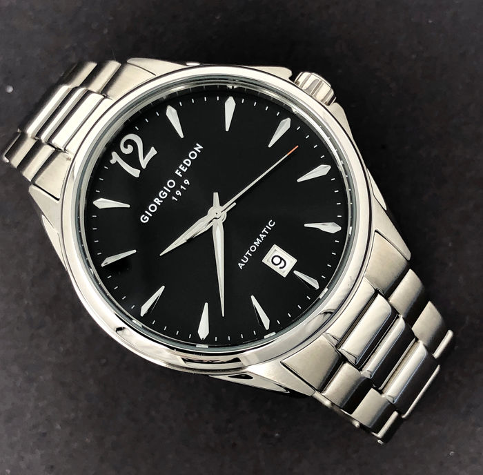 """Giorgio Fedon 1919 - Mechanical Automatic V Stainless steel Black Dial """"NO RESERVE PRICE"""" - GFAT002 - Homme - Brand New"""