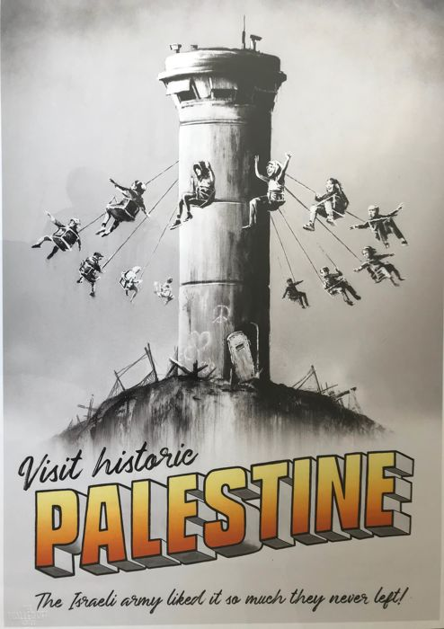 Banksy - Visit Historic Palestine Walled Off Hotel - 2018