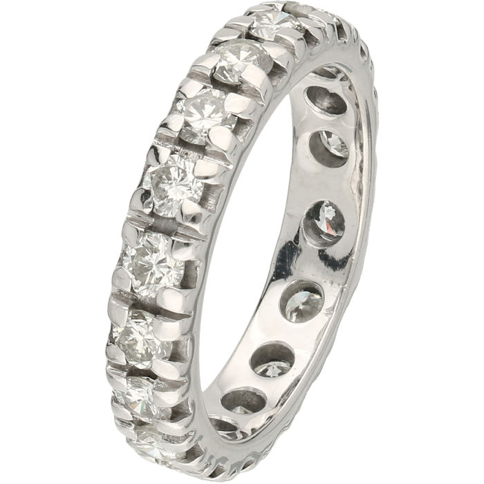 18 karaat Witgoud - Ring - 1.45 ct Diamant