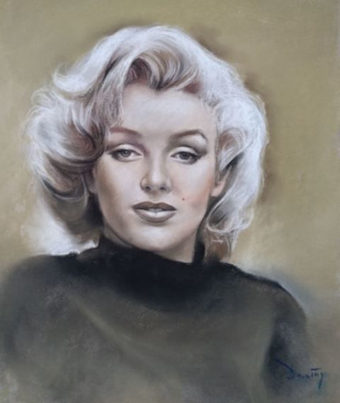 Marylin Monroe - Artwork, Pastel paper Domingo Álvarez Gómez, Barcelona , Spain 1942