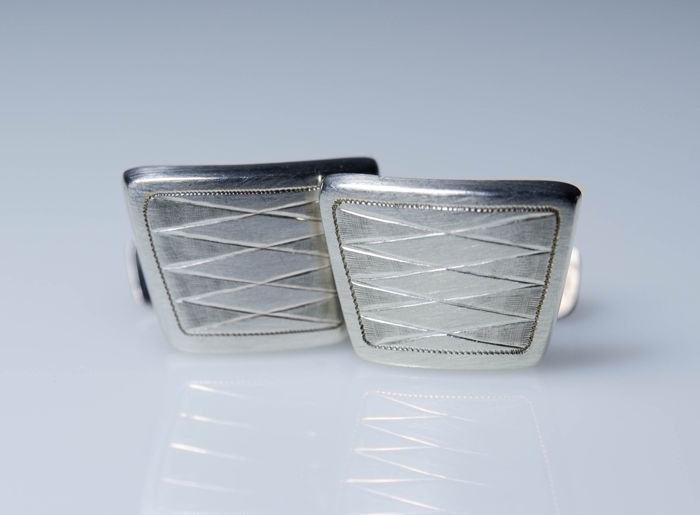 835 Silver - Art Deco cufflinks