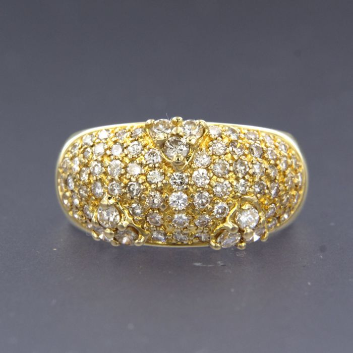 18 quilates Oro amarillo - Anillo - 1.30 ct Diamante