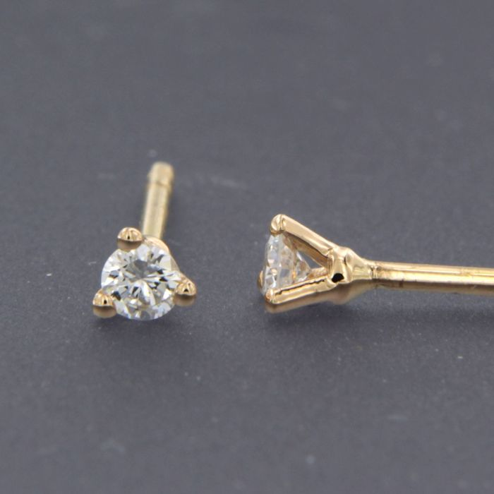 18 quilates Oro rosa - Pendientes - 0.06 ct Diamante