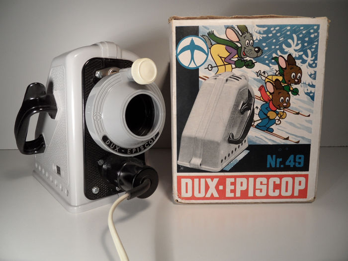 Dux - toy projector / episcope with original box - Aluminium, Glass, Plastic