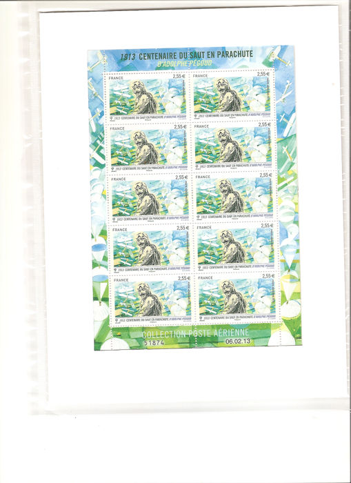 Frankrijk - Complete airmail sheet in blister pack - Yvert F76a