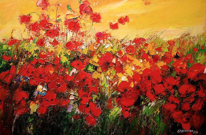 Malgorzata Stefaniak - Poppies in the Evening