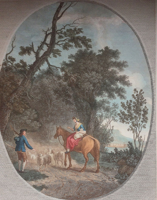 Francesco Bartolozzi (1725-1815) and Morris after Gilpin - 'The Happy Meeting
