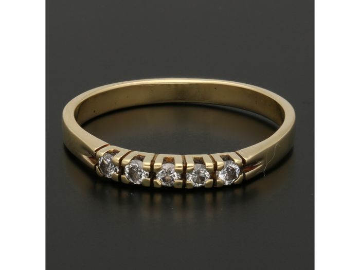 14 karaat Goud - Ring - 0.10 ct Diamant