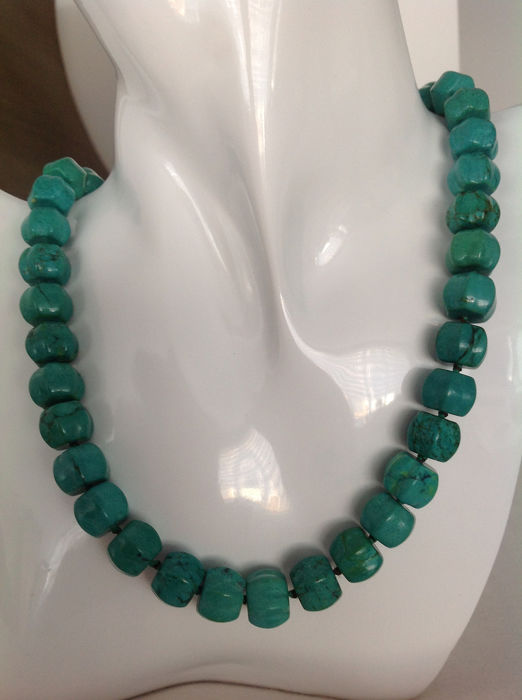 Turquoise -Halsketting  - 96 g
