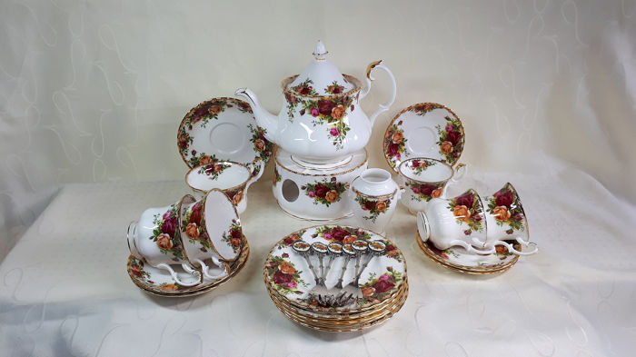 Old Country Rose - Royal Albert - Thee servies (22) - Romantisch - Porselein