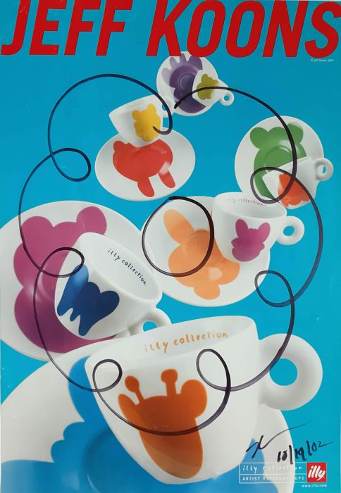Jeff Koons - Hand Drawn Flower on Illy Coffee Poster
